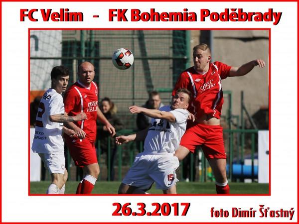 Fotogalerie FC Velim - FK Bohemia Poděbrady